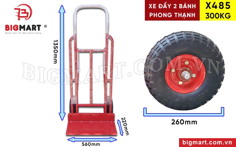 Thông số kích thước xe đẩy X485