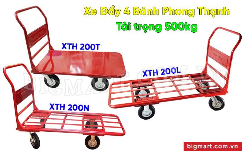 Xe đẩy tay 4 bánh 500kg Phong Thạnh