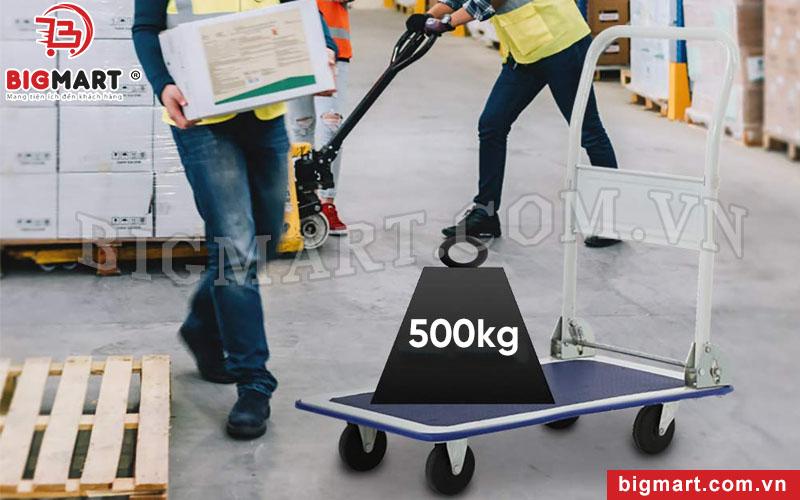 Xe đẩy tay 4 bánh tải trọng cao 500kg