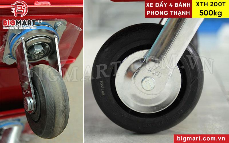 Bánh xe đẩy cao su H200 có thể xoay 360 độ