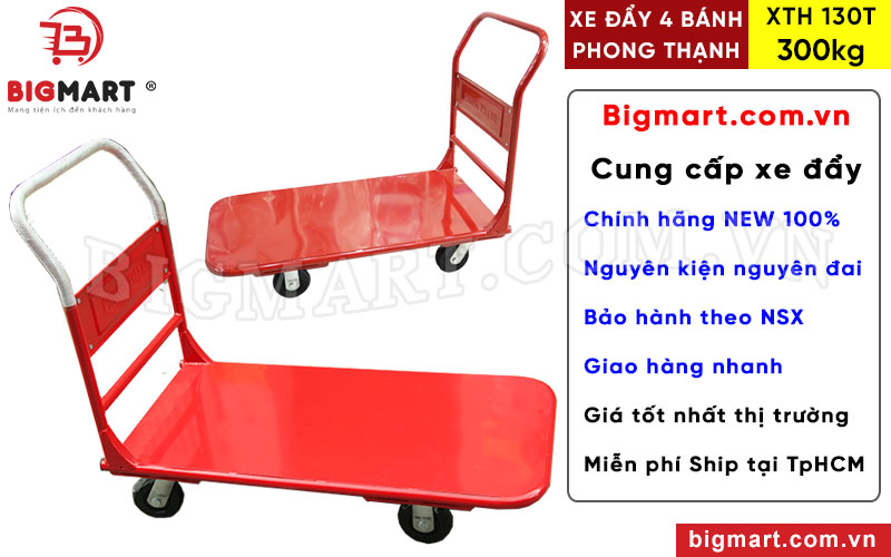 Mua xe đẩy 300kg Phong Thạnh XTH 130T chính hãng tại BIGMART