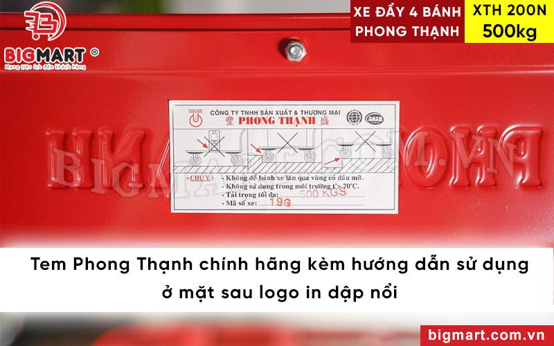 Tem Phong Thạnh kèm hướng dẫn sử dụng