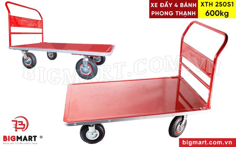 Xe Đẩy Hàng 4 Bánh Phong Thạnh XTH 250S1 Tải Trọng 600kg