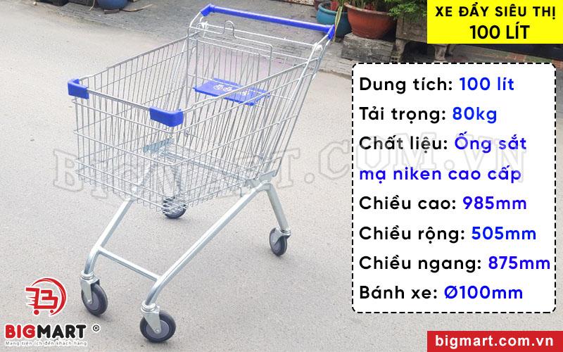 Xe đẩy siêu thị cao cấp, đa năng khi mua sắm