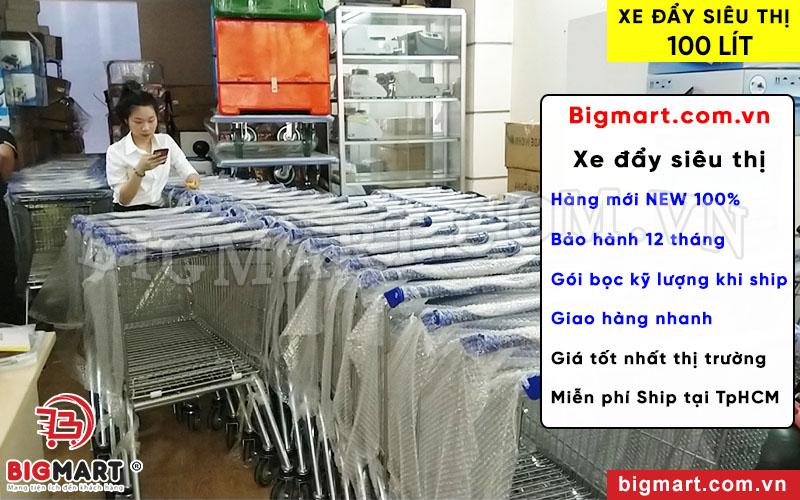 Mua xe đẩy siêu thị ST 100L chính hãng tại BIGMART